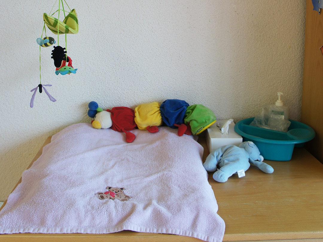 Kinderkrippe Stärnschnuppe Babygruppe: Wickeltisch