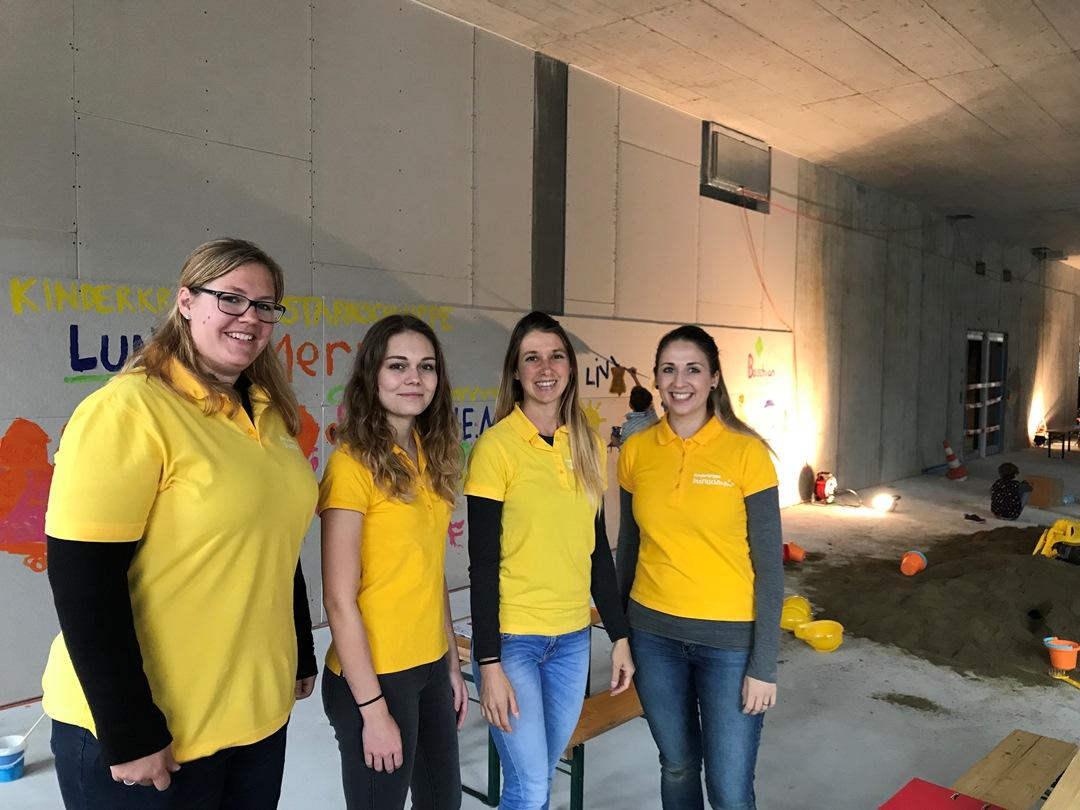 kKITA Stärnschnuppe Veranstaltungen: Tag der offenen Baustelle Mattenhof Kriens Betreuungsteam