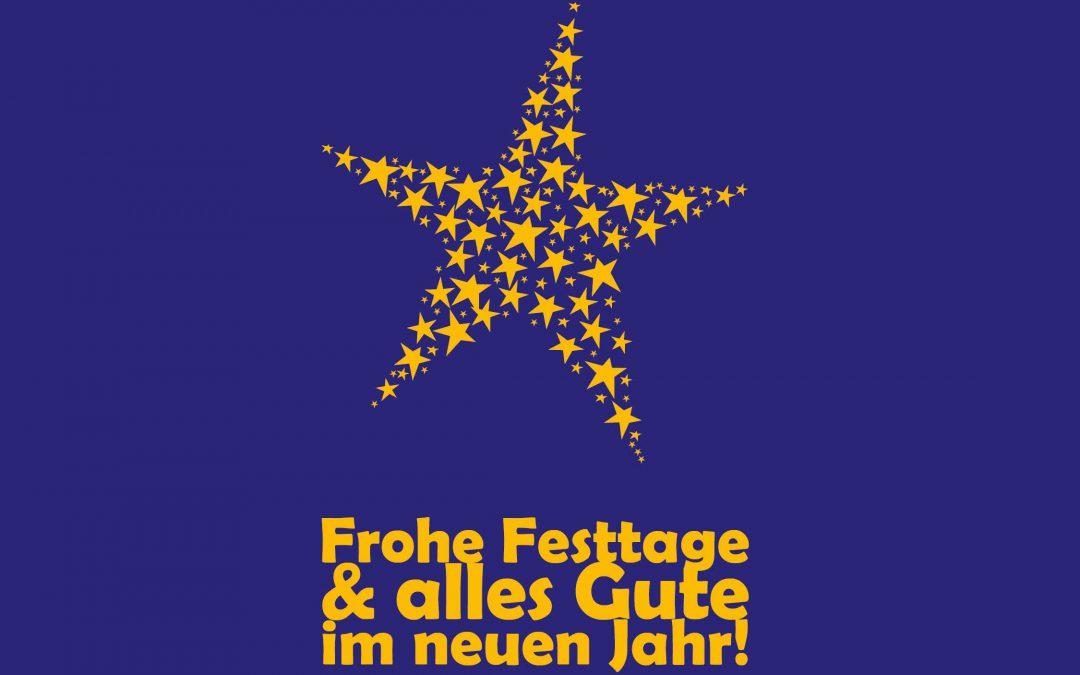 FROHE FESTTAGE & ALLES GUTE IM NEUEN JAHR!