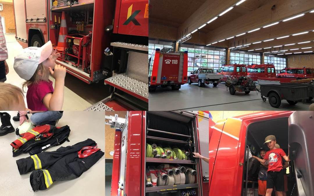 Kinderkrippe Stärnschnuppe: Besuch bei der Feuerwehr Kriens