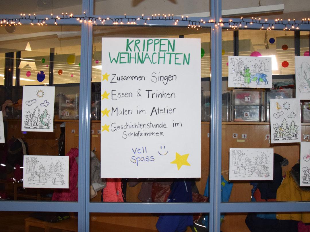 Kinderkrippe Stärnschnuppe Weihnachtsfeier: Programm