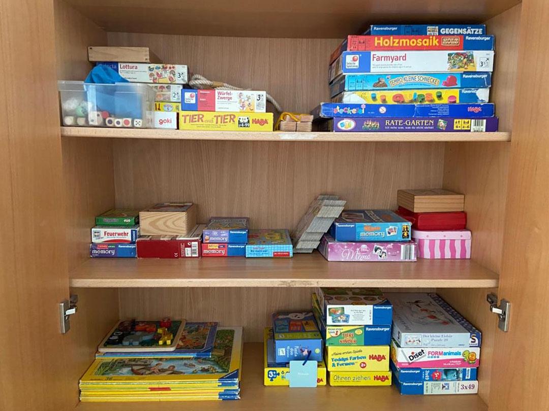 KITA Stärnschnuppe Aktivitäten: die Kinder haben viele Spiele zur Auswahl