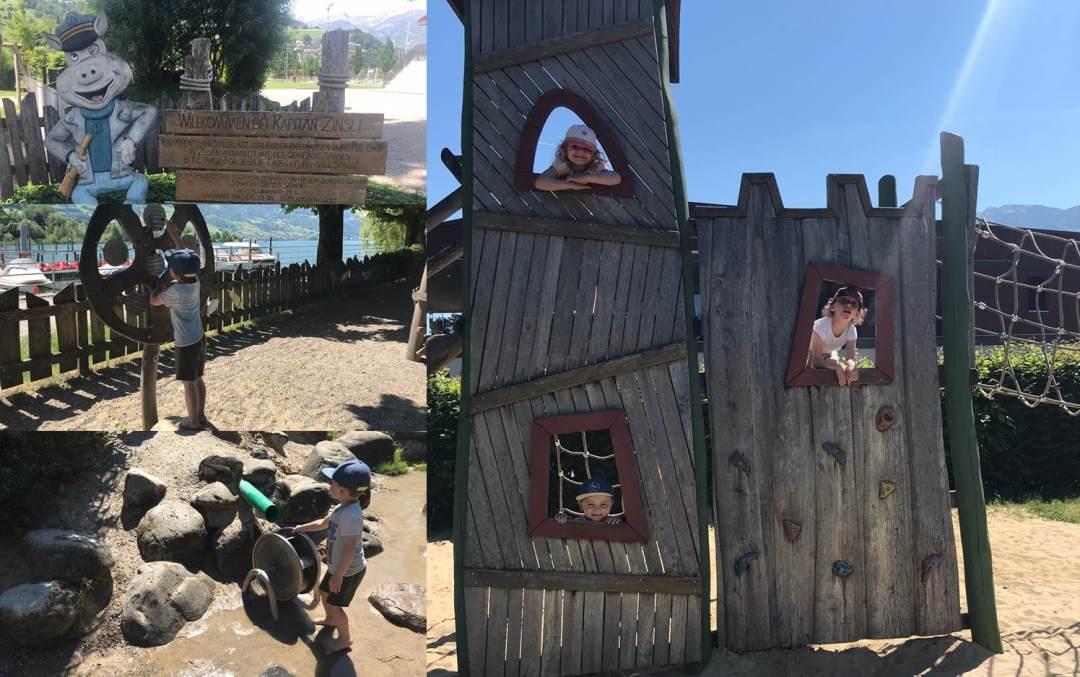 Kinderkrippe Staernschnuppe: Kindergartenreisli der Gruppe Estrellas zum Kaptitaen Zinsli Spielplatz in Sarnen