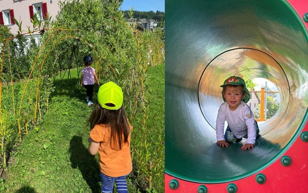 Kinderkrippe Staernschnuppe: Kids+ Ausflug auf den Spielplatz Hergiswil Matt